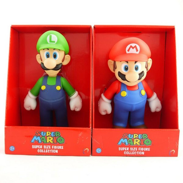 Super Mario Bros PVC Figure topper Super Mario nds Luigi Peach yoshi Dinosaur Action Figures Toys
