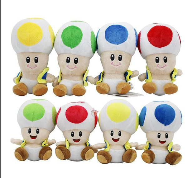 New Super Mario Bros mushroom head Plush Doll Toy With Tag Soft Yoshi Doll Kid's Gift 17CM