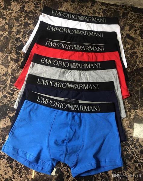 19ss Männer Unterwäsche Boxer Baumwolle 6 Farbe M-XXL Atmungsaktiv Brief Unterhose Shorts Markendesign Cuecas Engen Bund POP