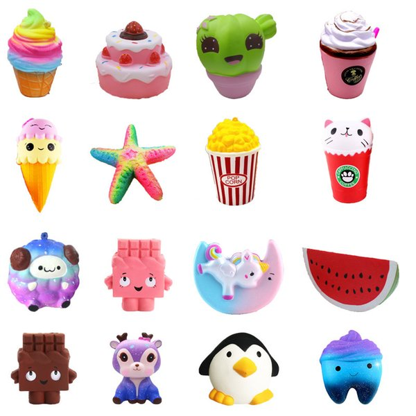 best selling Squishy Strawberry Cake ice cream chocolate squishies Slow Rising 12cm Soft Squeeze Cute Cell Phone Strap gift Stress children toys DS