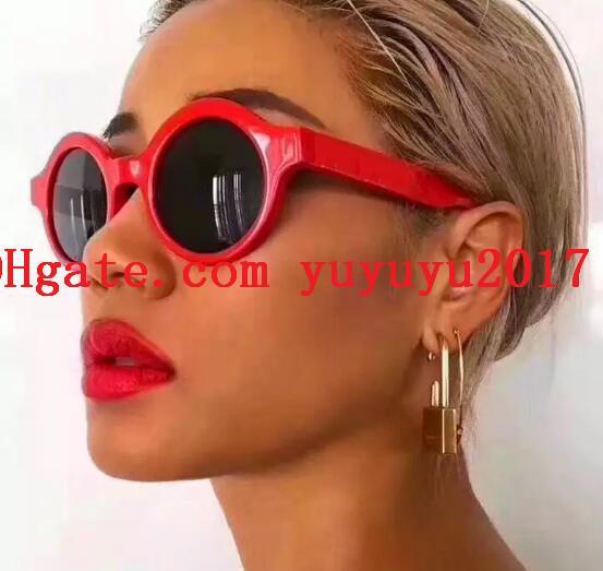 5bc9196799 womens designer sunglasses 0990 retro circular frame Hip-hop popular street  style trendy glasses top