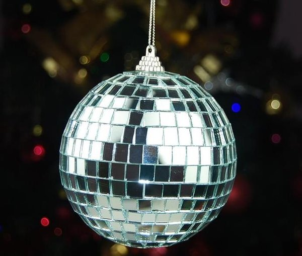 Hot Silver mirror glass marble ball disco ball,flash glass christmas ball,Party decoration wedding decoratino ball Christmas tree decoration