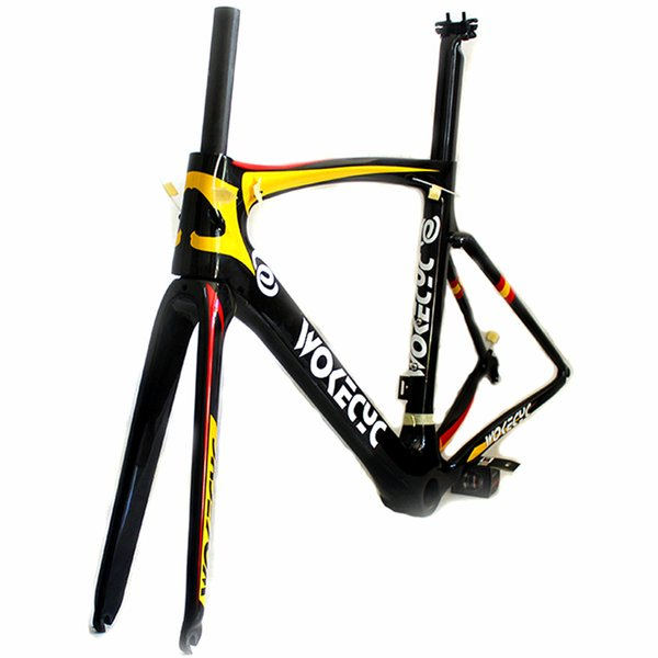 2018 carbon fiber road bike frames racing bicycle frame cycling frameset ID2 compatible Spanish flag glossy