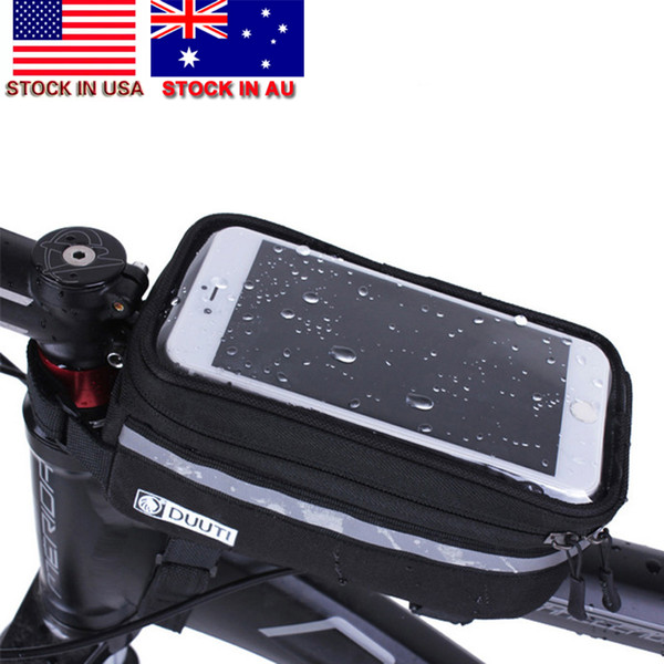 Waterproof Bike Bicycle Front Frame Pannier Tube Phone Bag Holder Touch Screen