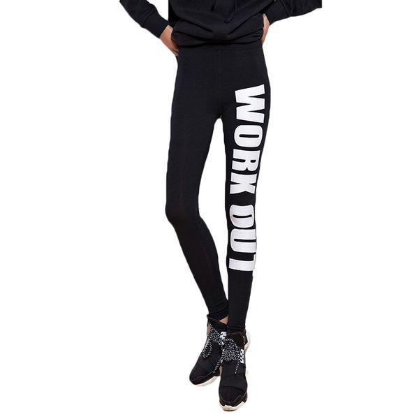 Acheter Harajuku 2016 Femmes Leggings Mode Automne Hiver Style Marque Noir Fitness Leggins Fitness Work Out Imprimer Lettre Legging De $31.46 Du Zhusa
