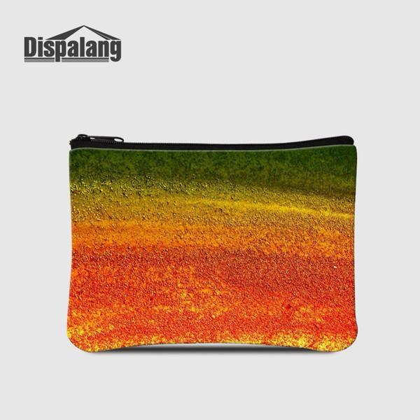 Dispalang New Style Ladies Workmanship Change Purses Colorful Painting Wallets Storage Bags Money Bag Zipper Mini Coin Purse