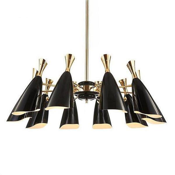 Modern creative two-way head speaker chandelier LED lamp 10/12 heads For villa restaurant bedroom hotel lobby Home lighting G253