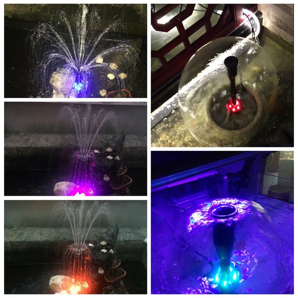 40w 2000l /H Fish Pond Aquarium Submersible Water Pump Fountain Maker Garden Decoration Led Fountain Pump With Led Color Changing
