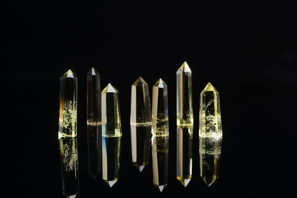New Pure natural yellow crystal,crystal clear clear point quartz points reiki healing crystal chakra spirit energy stones