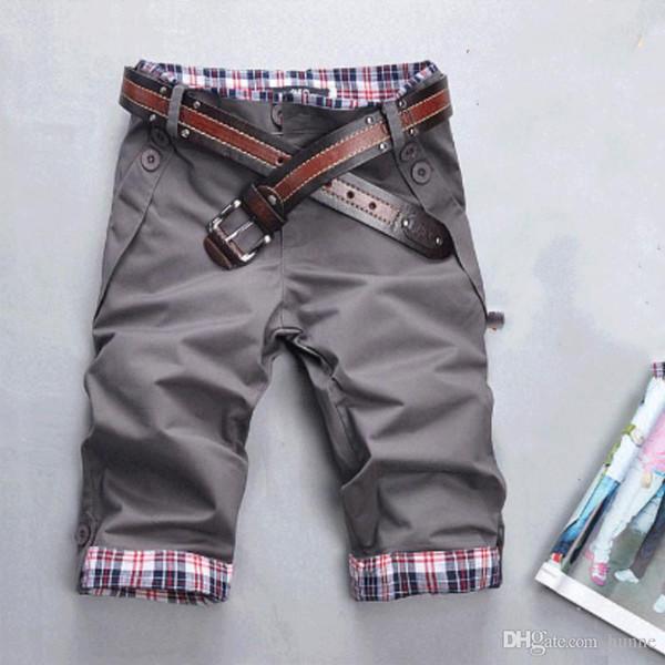 8d7f98851b Atacado-Men Shorts 2016 Venda Quente Moda Masculina Verão Desgaste Shorts  Masculinos Casuais Sólidos Calções