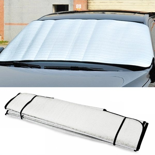 top popular UV Protect Car Styling Front Window Sunshade Windshield Film Foldable Car Windshield Sun Shade #iCarmo 2020