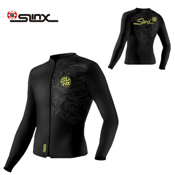 wetsuit Slinx 5mm diving wetsuit jackets men neoprene jacket for diving kitesurfing clothes suit front zip