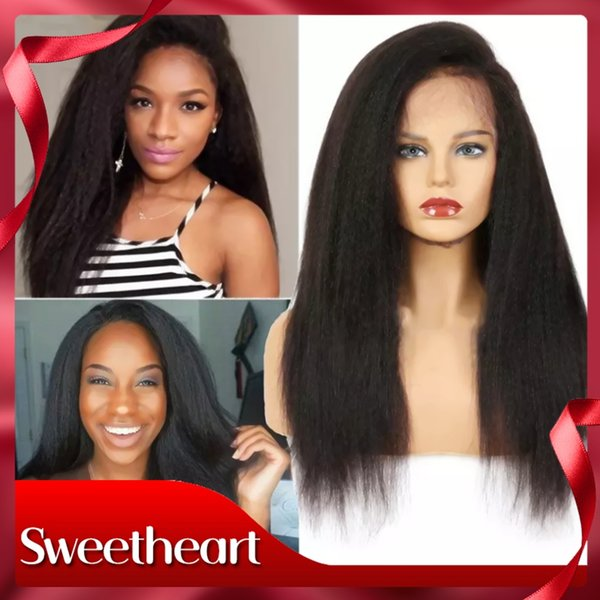 Full Lace Yaki Straight Hair Wig Lace Front