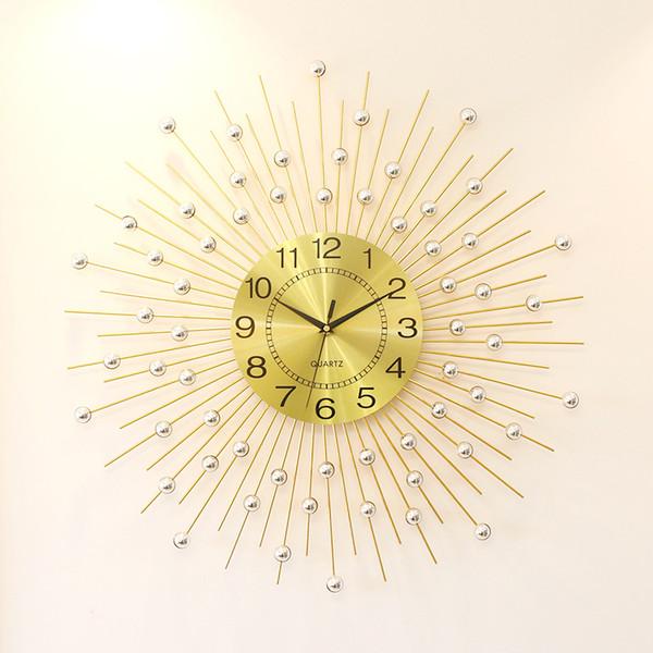 home decoration big wall clocks Modern Design 3D wall clock modern home decor stopwatch metal crafts 60*60cm