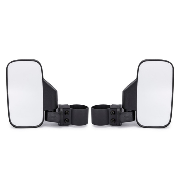 """Universal UTV Rear View mirror Side Mirror with 1.75"""" and 2"""" Roll Bar Cage fit for Polaris Ranger RZR RZR Can-Am Maverick"""