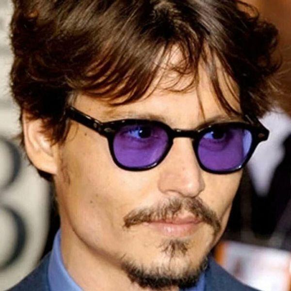 6cba020ceb Johnny Depp Womens Sunglasses Men Shades Brand Designer Sun Glasses for Men  Women Rivet Oval Eyewear Candy Color Sunglass Male