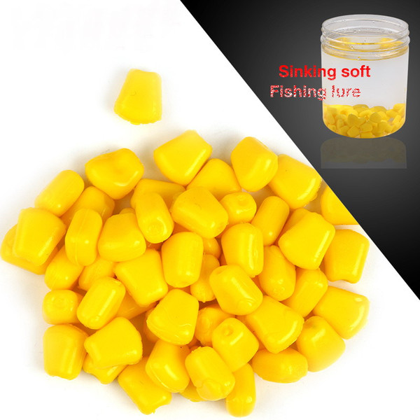 Hot selling! 200Pcs/Lot 0.5g Soft Baits corn with corn smell carp Fishing Lures Floating baits