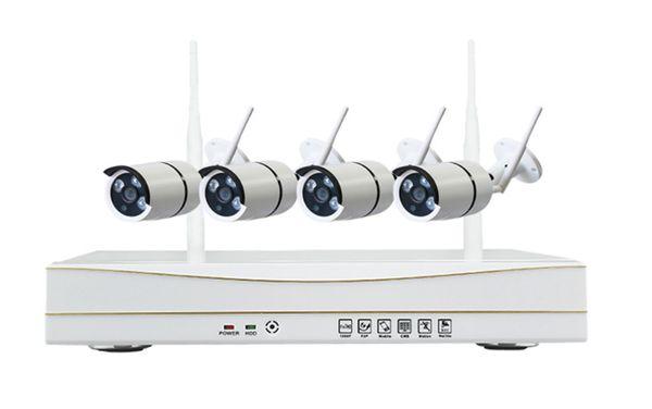 Открытый 960P HD WIFI NVR комплект 4channels подключи и играй беспроводная система видеонаблюдения WiFi IP-камера kit открытый 3ARRAYS IR50M камеры безопасности