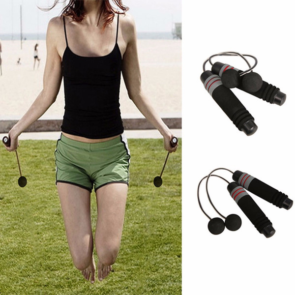 New Wireless Jump Rope Indoor Gym Fitness Cordless Skipping Rope Crossfit Burning Calorie Jumping + Extra Metal Stick 1Pair