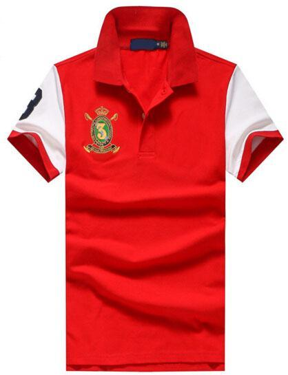 Best Sell 2018 American Design Summer Spring Men Polo Shirt Cotton Mens Polo Shirts Tee Tops Free Shipping