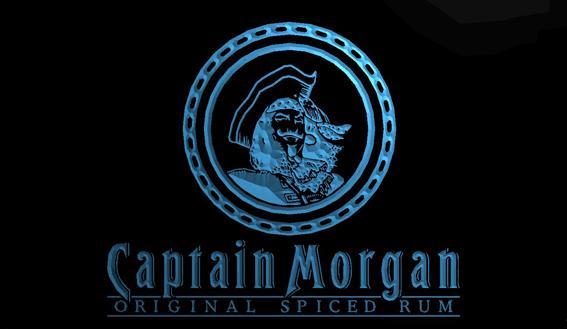 LS1529-b-BAR-Captain-Morgan-Rum-Neon-Light-Sign Decor Free Shipping Dropshipping Wholesale 8 colors to choose