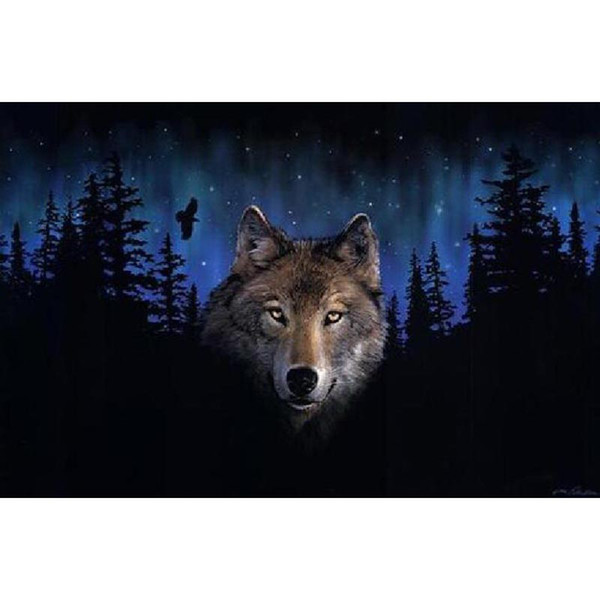 Frameless Wolf Diy Digital Painting By Numbers Animals Kits Acrylic Paint On Canvas Hand Painted Oil Painting For Home Wall Art