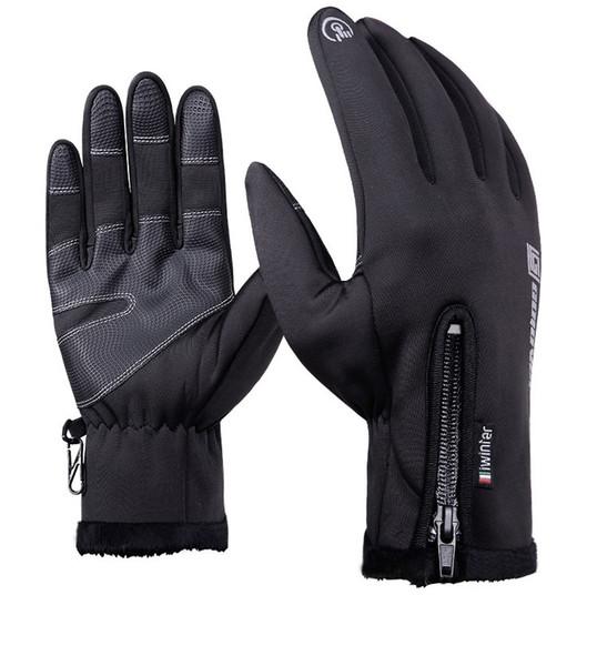 Outdoor Waterproof Gloves Winter Touch Screen Unisex Windproof CyclingFull Finger Zipper Thermal Sport Scratch Mountaineeringt