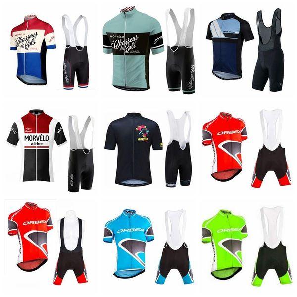 New Hot Morvelo ORBEA pro cycling jersey team men's cycling clothing quickdry short sleeve shirt+ bib/ shorts sets 90509J