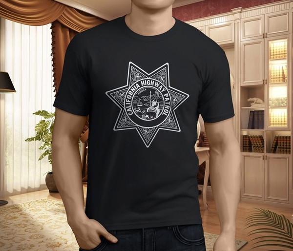 T-shirt nera da uomo California Highway Patrol CHP Chip Seal T-shirt taglia S-3XL personalizzata t shirt t shirt design Ifunny cool designs