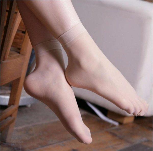 10 пар/лот женщины девушки ультра тонкий эластичный короткие запасы лодыжки Low Cut шелковые носки