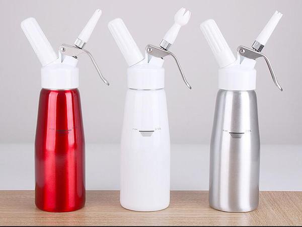 Dağıtıcı Kırbaç Tatlısı, Kahve, Taze Krem, Tereyağ Dağıtıcı Kırbaç Köpük Makinesi Metal 500 ml