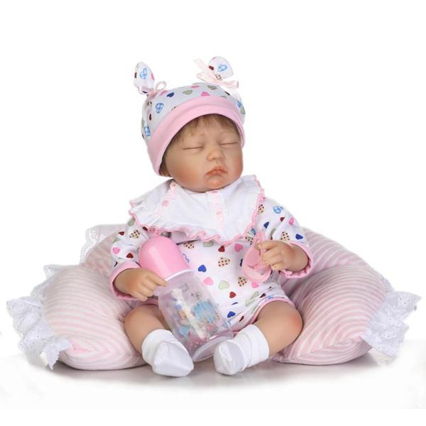 17 pollici neonato morbido silicone vinile reborn bambole realistica neonato bebe Realistico bambola 45 cm reale sleeping girl toy dolls