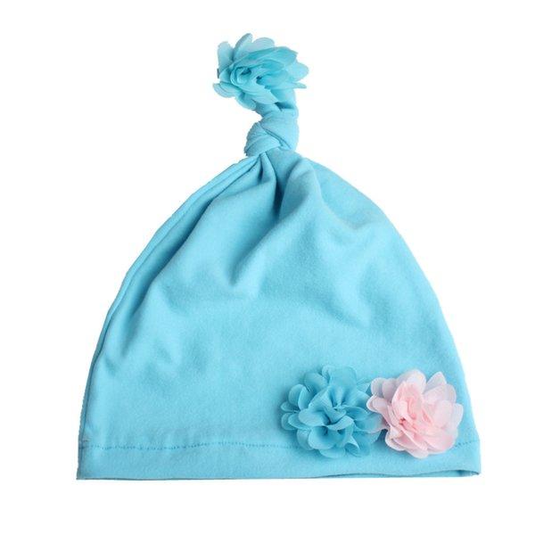 Light blue flower hat