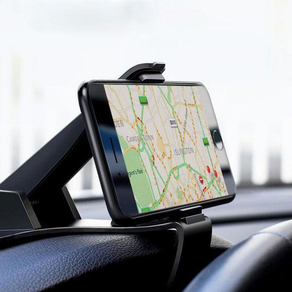 Dashboard Car Phone Holder for iPhone X Adjustable Clip Mount Holder Mobile Phone Holder Stand for Samsung GPS Car Cradle