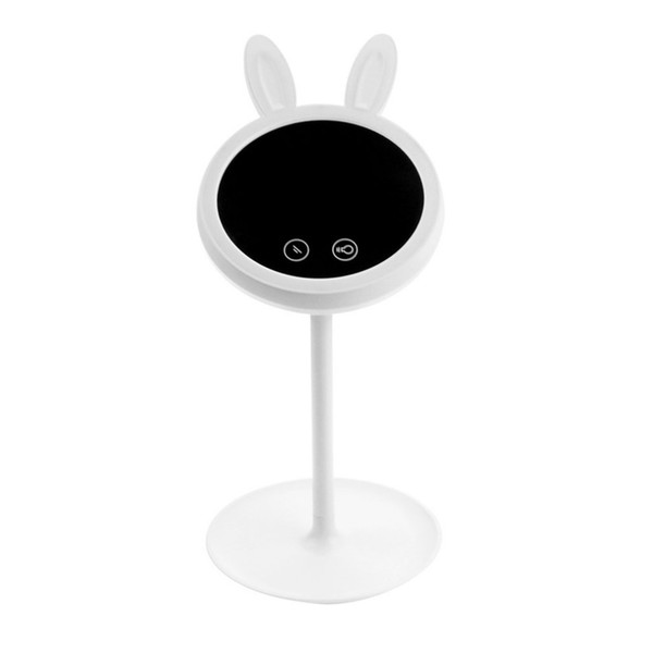 USB Makeup Mirror Table Light Touch Lamp Double Sided LED Brightness Adjustable Rabbit Desktop Lamp Xmas Gift for Kid Girlfriend