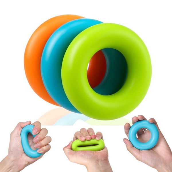 Silica Gel Portable Hand Grip Ring Strength Training Expander Hand Grip Rubber Ring Exerciser Muscel Power Training Equipment