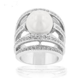European and American foreign trade export jewelry wholesale high-end luxury micro-encrusted diamond ring