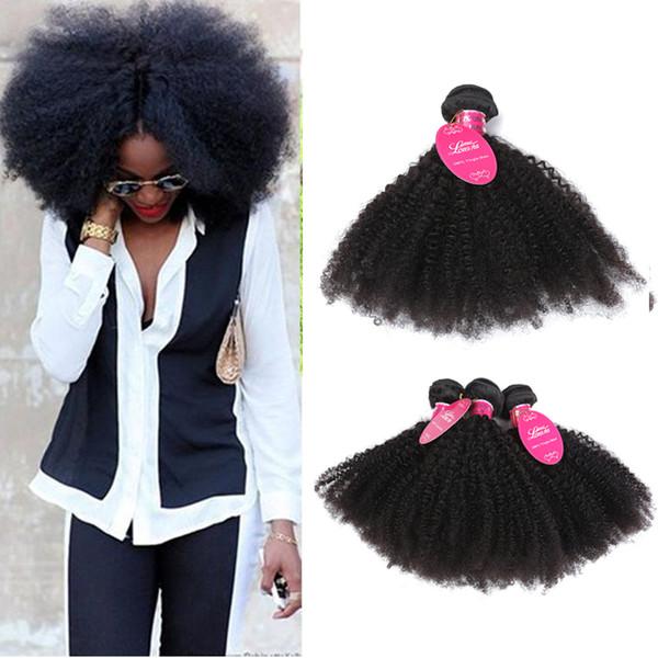 8a Peruvina Kinky Curly Weave Bundles de cheveux Peruvina Afro Kinky Curly Extensions de cheveux humains