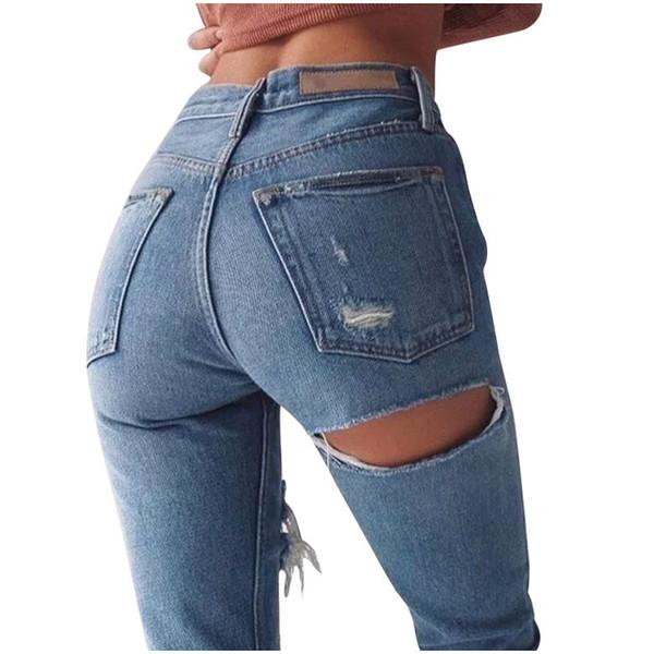 outlet 931b4 70ab7 Acquista Jeans Petite Extreme Ripped Jeans Fashion Distressed Design Jeans  Denim Non Elasticizzato Pantaloni Alla Caviglia Jeans Strappati Sexy A ...