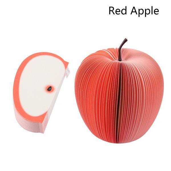 Lindo Pera de Apple Pegajosas Notas creativas de BRICOLAJE En Forma de Fruta blocs de notas kawaii Papel de Nota Papelería Oficina Papelaria Suministros