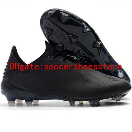 cheap 2019 mens soccer cleats X 18.1 FG Predator soccer shoes x 18 football boots outdoor Tacos de futbol high quality blackout