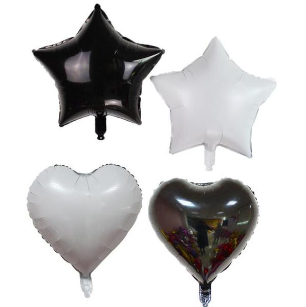 18 дюймов черно-белые воздушные шары щепка прохладный украшение партии свадебная церемония организация свадебной церемонии детские игрушки