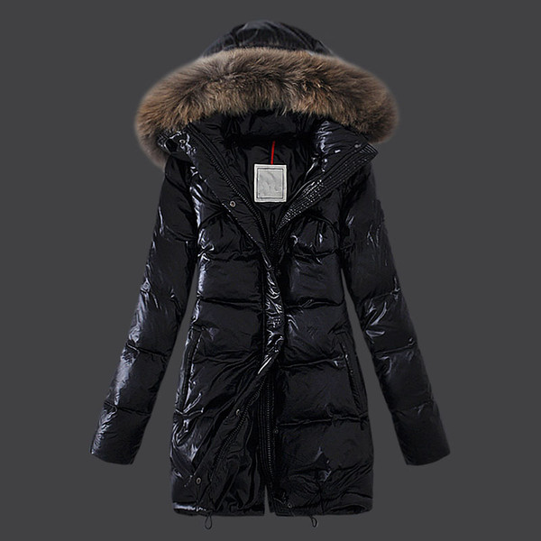 The female warm long Down jacket,the cotton Women's Down & Parkas , slim and fashion three style