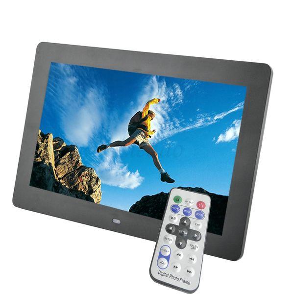 Wholesale-10 Zoll TFT-Bildschirm LED Hintergrundbeleuchtung HD 1024 * 600 Digital Photo Frame Elektronische Album Bild Musik MP3 MP4 Porta Retrato Digital