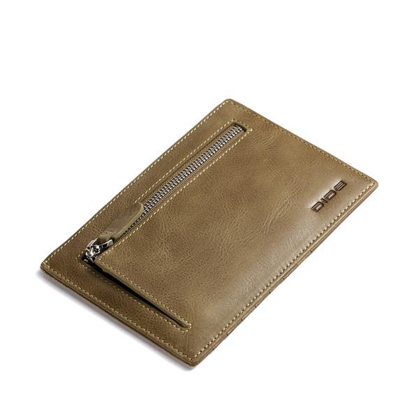 2018 Brand Genuine Leather travel wallet passport holder document organizer wallets thin Slim Coin Purse Men Multifunctional