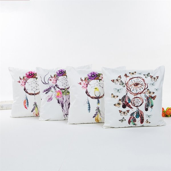 Dreamcatcher Cushion Covers Print Silks And Satin Pillow Case Luxury Home Decor Pillowslip Ethnic Style Non Toxic 7 5xa jj