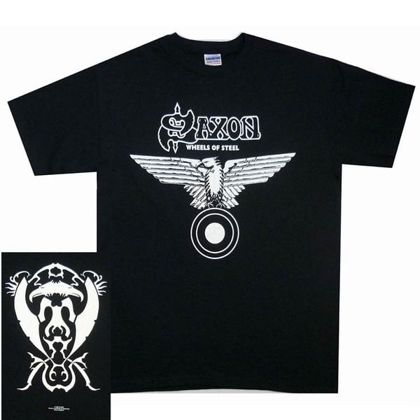 Saxon Wheels Of Steel Shirt S M L XL Officl T-Shirt Metal Band Tshirt NWOBHM NewHigh Quality Casual Clothing