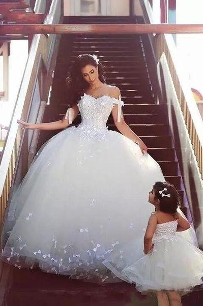 Marfil romántica cariño una línea de tul vestidos de novia hombro acanalado arco nudo apliques boda vestidos de novia Vintage árabe bodas