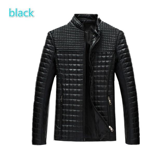 Man Leather Jacket And Coats Slim Fit Outerwear Clothing Casacos Masculino Chamarras De Cuero Para Hombre Jaqueta De Couro