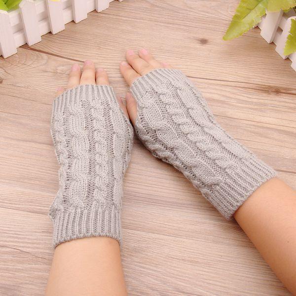 NEW Winter women's wool, half finger gloves, string lovers ride on cell phones, no finger gloves W502
